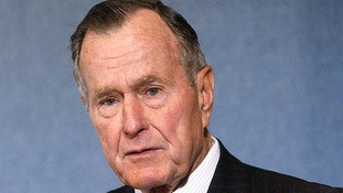 George Bush Snr is in hospital in Houston, Texas.