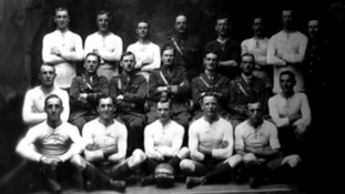 The 1914 team who played during the Christmas Day truce.