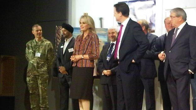 Joanna Lumley with Nick Clegg this morning