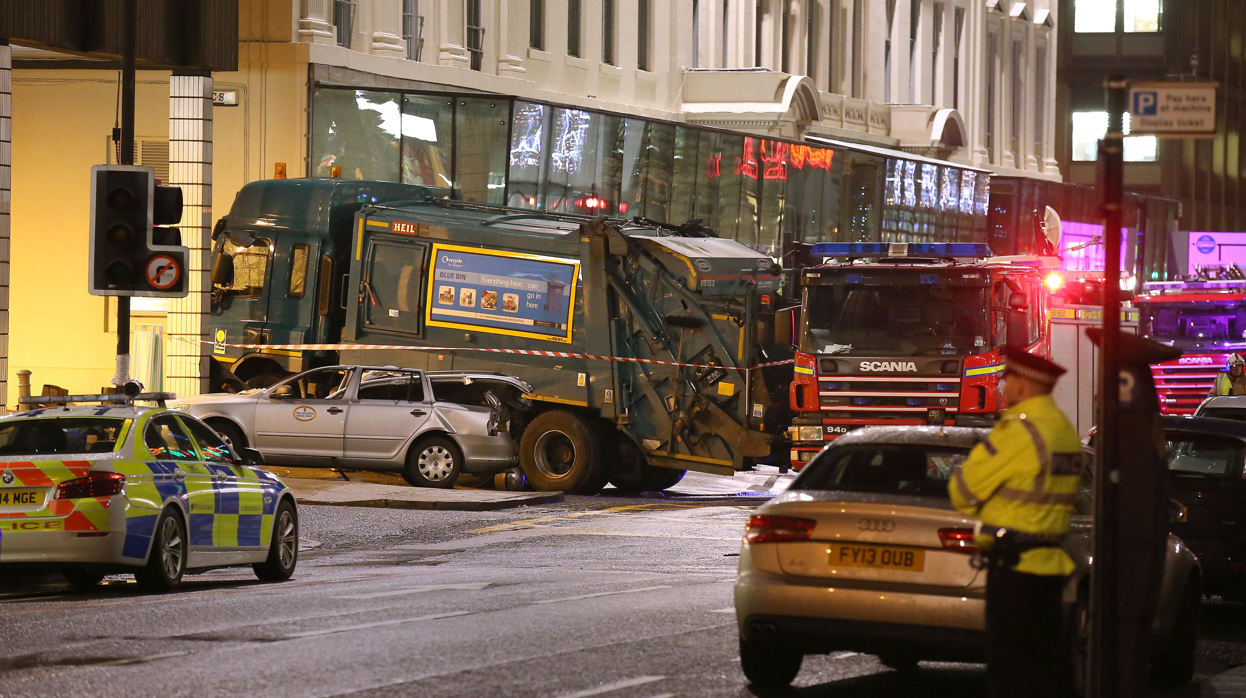 police re-appeal for footage of glasgow bin lorry crash