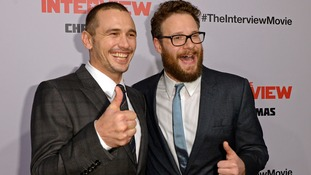 The film stars James Franco (left) and Seth Rogen (right).