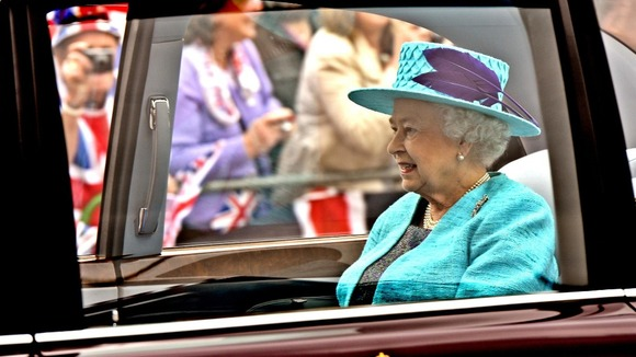 The Queen travels to the Armed Forces Parade and Muster at Windsor Castle in May