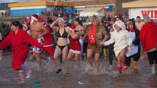 Porthcawl Christmas Morning Swim 2013