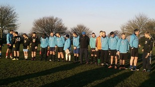 The game in Sedgley today to mark the 1914 Truce