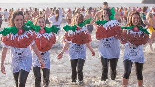 Porthcawl Christmas Morning Swim 2014