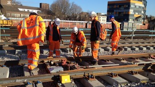 Record 11,000 rail staff work on the network on Christmas Day