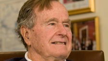 Former President Bush has been in hospital since Tuesday.