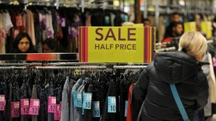 Shoppers bargain-hunting at the Highcross Centre in Leicester