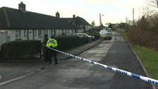 Crime scene with police