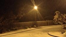 Snow falling in Birmingham
