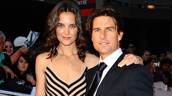 Tom Cruise and Katie Holmes arriving for the 2010 National Movie Awards
