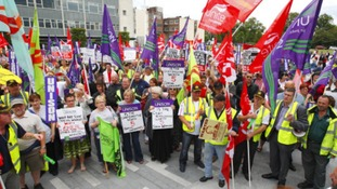 Council workers' protest