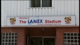 Stevenage's Lamex Stadium, Broadhall Way