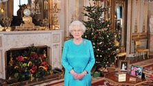 The Queen prepares to record her 2009 Christmas message