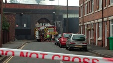 The fire has caused the bridge to be closed while investigations take place