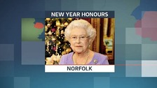 The Queen's New Year Honours list for 2014 includes a number of people from Norfolk