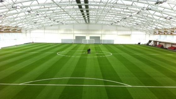 The full size indoor pitch using the world's most advanced AstroTurf technology