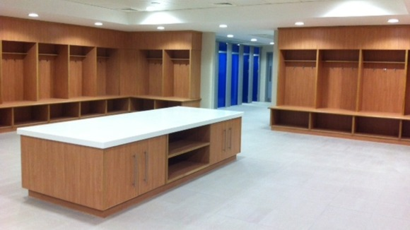 The brand new changing rooms at St George's Park in Burton-on-Trent