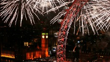 Fireworks light up the London Eye at the start of 2014.