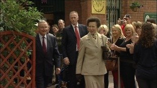 The Princess Royal arrives at Tynemouth Metro station
