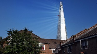 The Shard in central London pictured on May 30th 2012 during its construction.