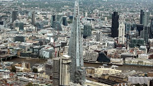 A general view of The Shard and the City of London.