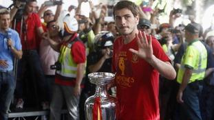 Spanish captain Iker Casillas