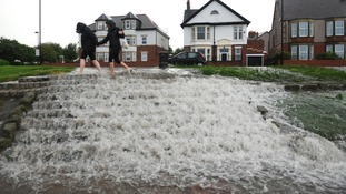 Flooding in Whitley Bay, North Tyneside.