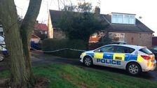 A house remains cordoned off