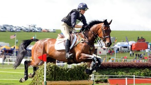 Piggy French riding DHI Topper W during day two of the Barbury International Horse Trials at Barbury Castle Estate, Wiltshire.