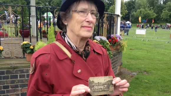 Wendy and a photo of her great-aunt Jennie Fletcher swam in the 1912 Olympic Games in Stockholm.