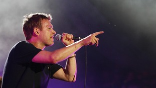 Lead singer of Blur, Damon Albarn