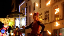 Street performers have illuminated the streets of Dublin as the city heralds the start of a new year.