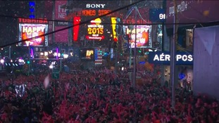 A million people packed into Times Square