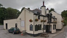 The scene of the alleged attack at The Kings Arms in Devon.