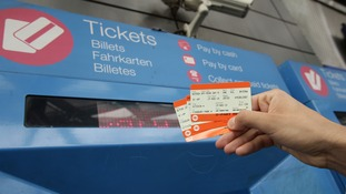 Rail ticket machine