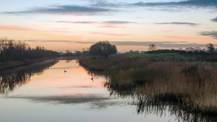 river Huntspill on the Somerset Levels