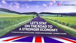 David Cameron will kick-start the general election year by promoting the Tories' first campaign poster during a visit to Yorkshire.