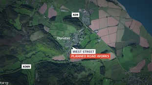 West Street in Dunster will be closed for several weeks