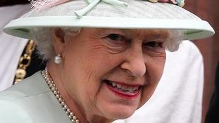 Queen Elizabeth II during a visit to the Scottish National Portrait Gallery in Edinburgh.