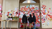 Residents 'love-bomb' mosque in support after attacks in Sweden.