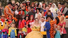 Guests also joined the fancy dress Disney theme.