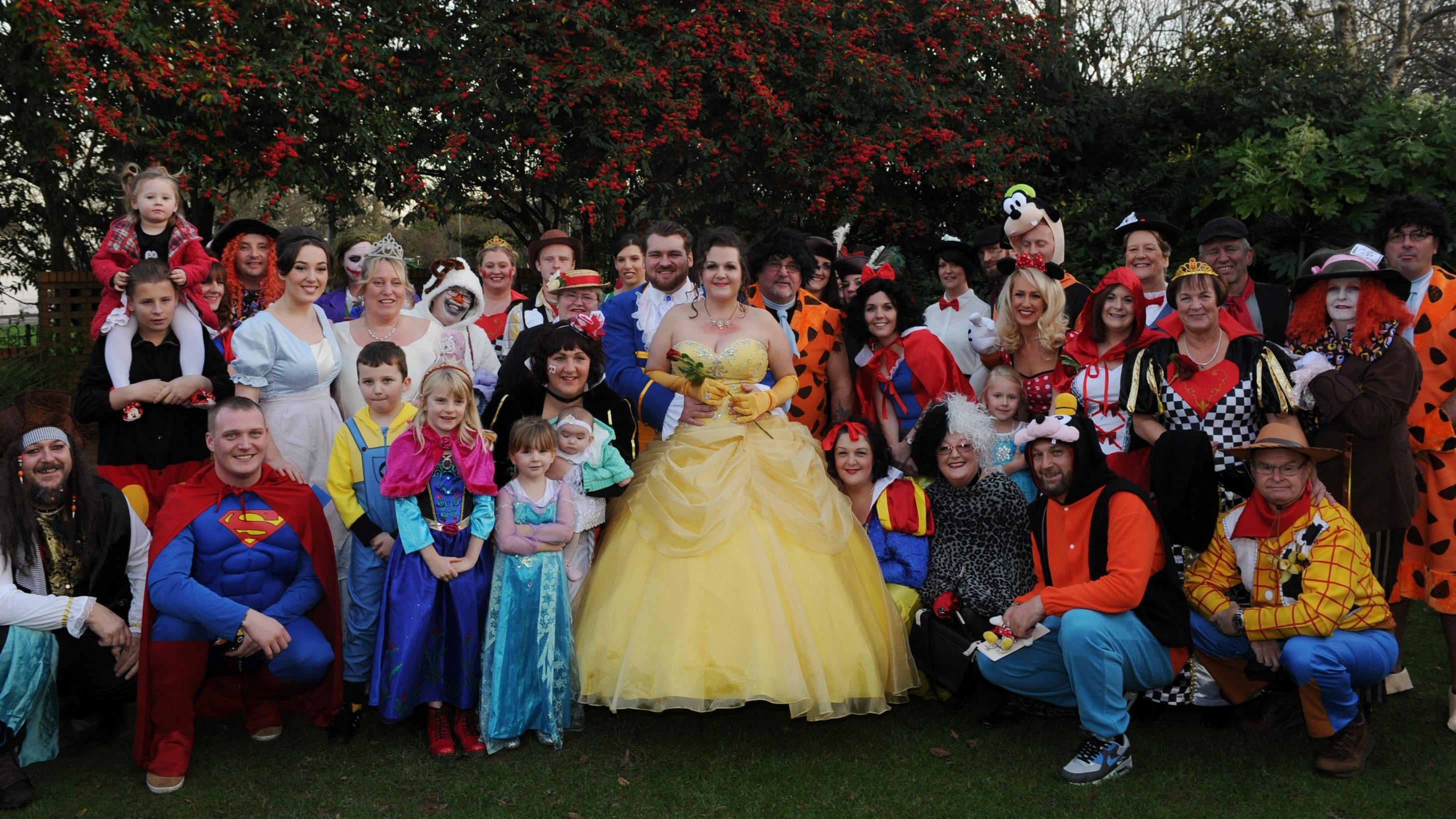 Guests join in with fancy dress at surprise Disney themed