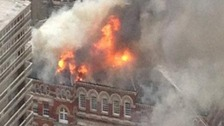 The roof was destroyed in a blaze in 2013.