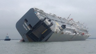 The Hoegh Osaka remains grounded