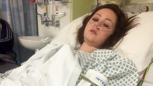 Zoe Turner pictured recovering from her injuries in hospital.