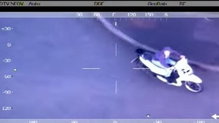Police release dramatic aerial video of moped chase