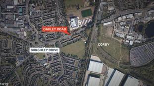 Scene of knife attack in Corby
