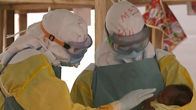 NHS staff working to tackle the Ebola outbreak in Sierra Leone