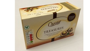 Customers who bought 200g packs of Choceur Treasures with a best before date of 1 September 2015 at Aldi stores in the Midlands have been told to return the product